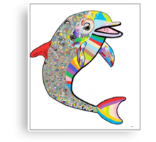 Dolphin - The Devil's in the Details Canvas Print