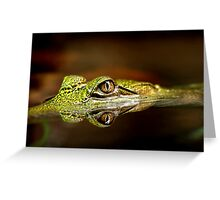 Gator Eyes Greeting Card