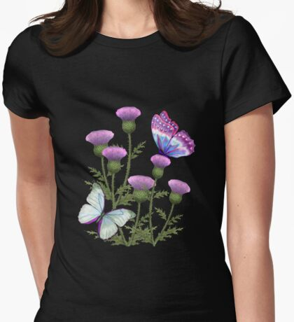 Summer Thistles Womens Fitted T-Shirt