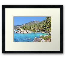 Secluded Cove on Lake Tahoe Framed Print