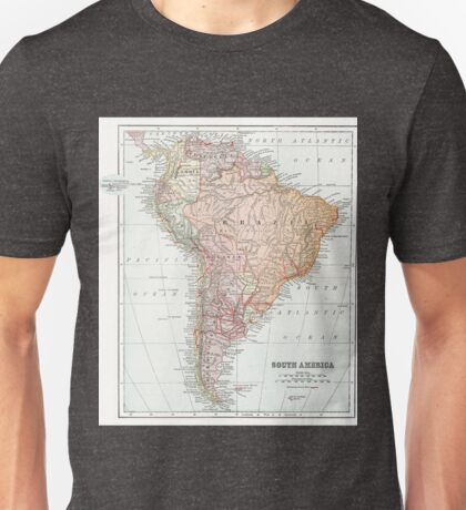 Vintage Map of South America Unisex T-Shirt