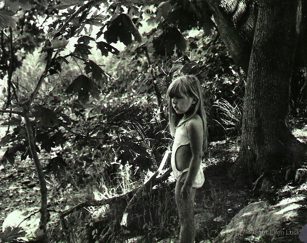 Young Girl in a Forest by Janet Ellen Lusk