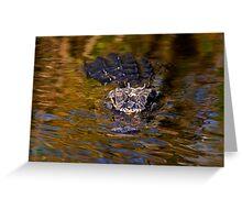 Dark Water Predator Greeting Card