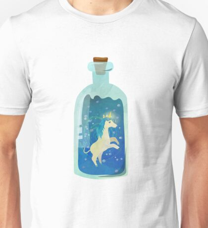 Unicorn in the bottle Unisex T-Shirt