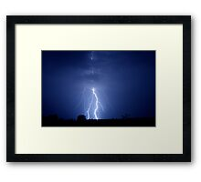 stick figure bolts Framed Print