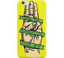 Three Finger Salute iPhone Case/Skin