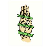 Three Finger Salute Art Print