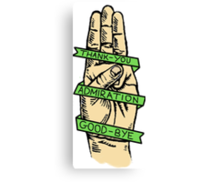 Three Finger Salute Canvas Print
