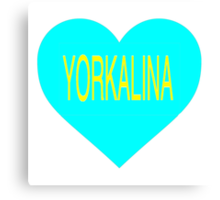 Yorkalina Heart Canvas Print