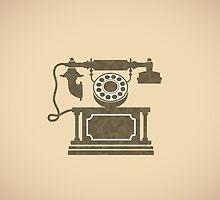 Vintage phone by Alexzel