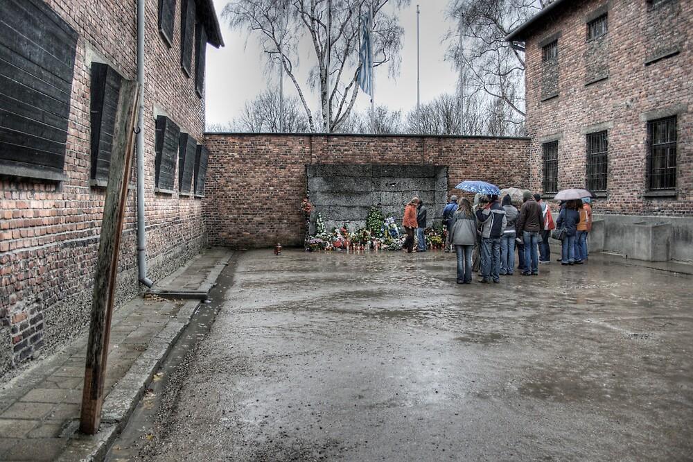 The executioners wall - Auschwitz by Martyn Starkey