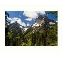 Towering Mountain Peaks in the Pacific Northwest Art Print