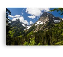 Towering Mountain Peaks in the Pacific Northwest Canvas Print