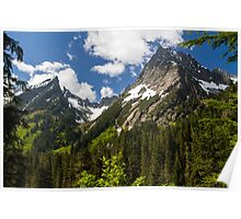 Towering Mountain Peaks in the Pacific Northwest Poster