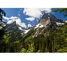 Towering Mountain Peaks in the Pacific Northwest Photographic Print