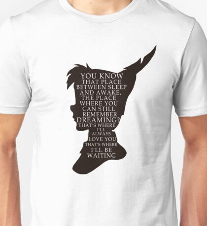 Peter Pan Quote - That Place Unisex T-Shirt