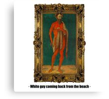 White guy coming back from the beach Canvas Print