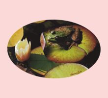 Frog ~  He Almost Sunk the Lily Pad Kids Clothes