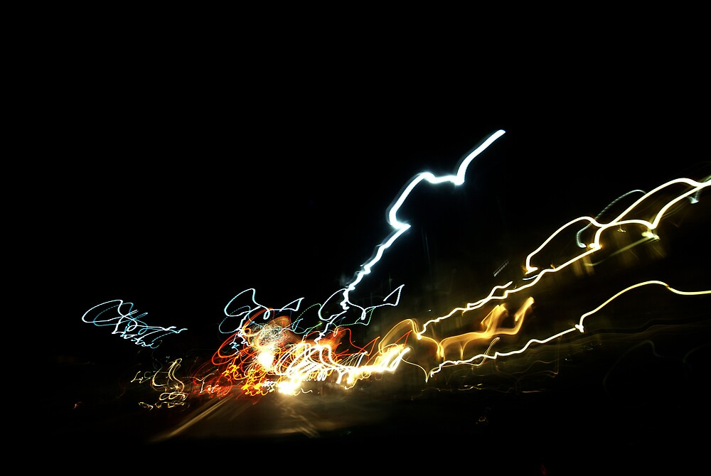 Light trails by alistair mcbride