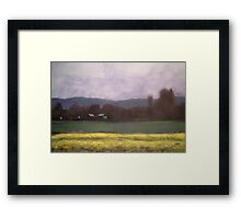 Land Escape Framed Print