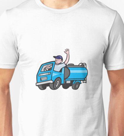 Baby Tanker Truck Driver Waving Cartoon Unisex T-Shirt