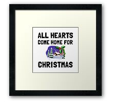 Hearts Come Home For Christmas Framed Print