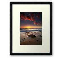 The Rock and the Sunset ..... Framed Print