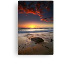The Rock and the Sunset ..... Canvas Print