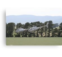 Helicopters In Formation Canvas Print