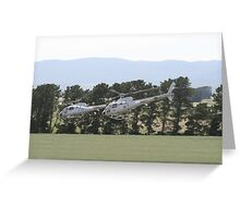 Helicopters In Formation Greeting Card
