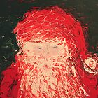 Santa Finger Painting by William  Boyer