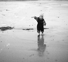 Jacob at the beach by moseszap