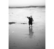 Jacob at the beach Photographic Print