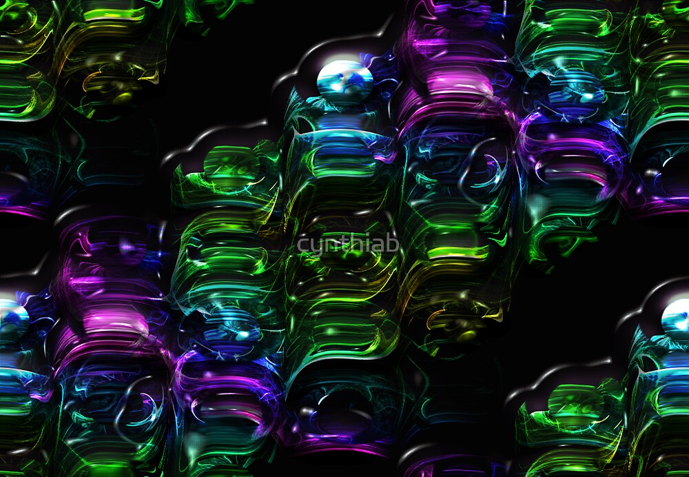 abstract purple by cynthiab