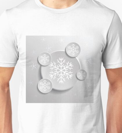 abstract snowflakes Unisex T-Shirt