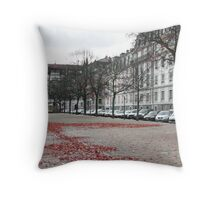 stand still and photograph Throw Pillow