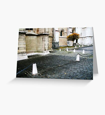 lonely tree in townscape Greeting Card