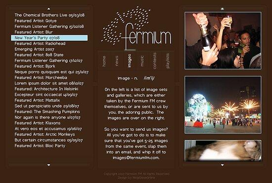 Fermium FM Layout 3 by Bryan Davidson
