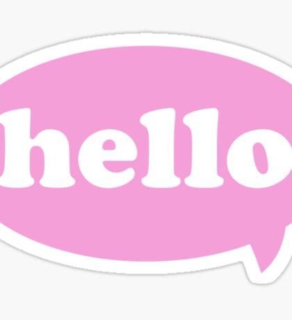 Hello! Sticker