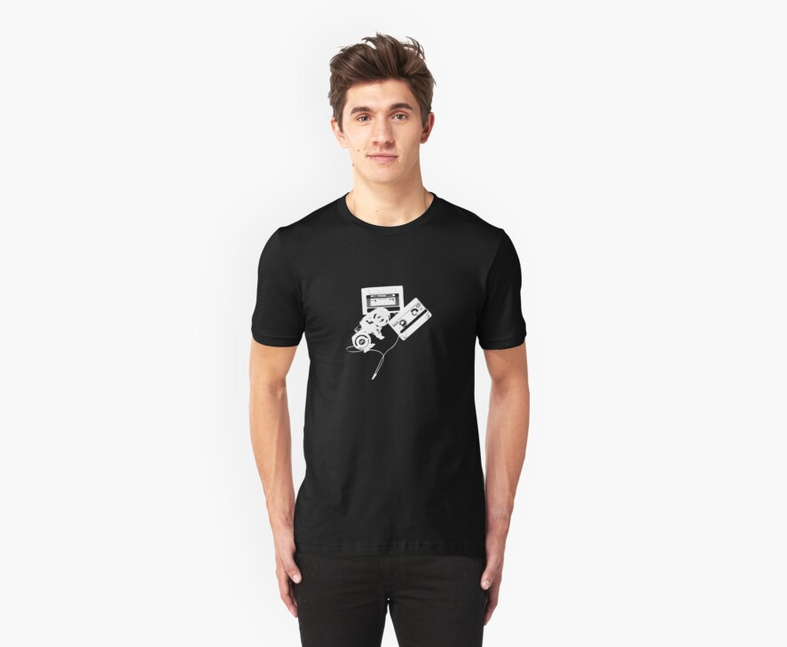 HEADPHONES & TAPES by Awesome Rave T-Shirts