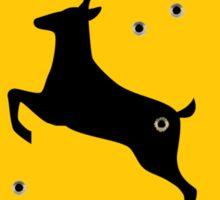 Deer crossing sign 2 Sticker