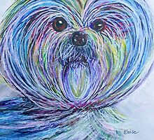 Purse Pup Portrait ... SHIH TZU by EloiseArt