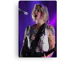 Brody Dalle in full flight! Canvas Print