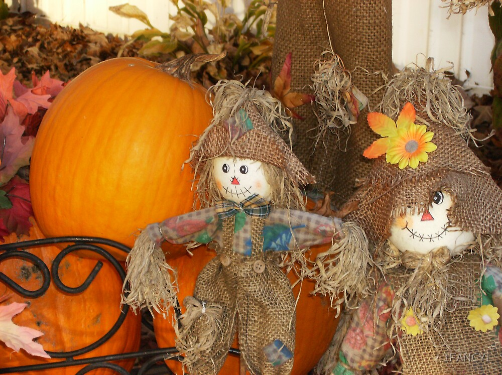 Pumpkins and Scarecrows by 1FANCY1