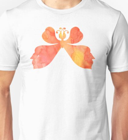 Watercolor Butterfly - Red Orange Yellow Unisex T-Shirt