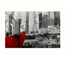 Water front low Manhattan Art Print