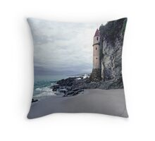 Castle Turret at Victoria Beach, Laguna Beach Throw Pillow