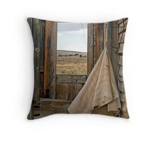Porch Window Bodie Ghost Town Throw Pillow