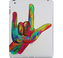 I LOVE YOU - American Sign Language iPad Case/Skin