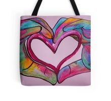 Universal Sign for Love - You Hold my Heart in Your Hand Tote Bag